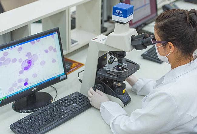 laboratório check up